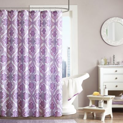 Intelligent Design Lionna Shower Curtain in Purple