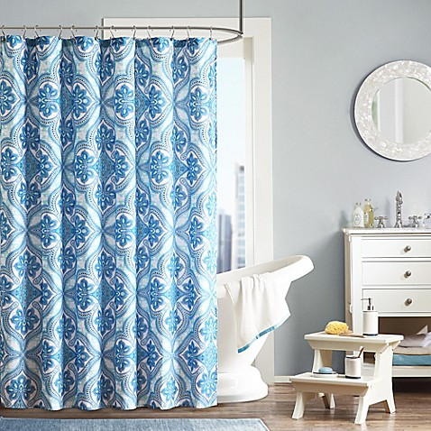 Buy intelligent design lionna shower curtain in blue from - Intelligent shower ...