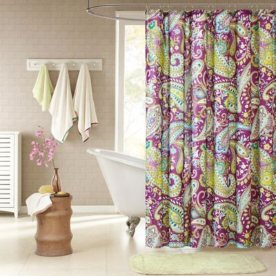 Intelligent Design Melissa Shower Curtain in Purple