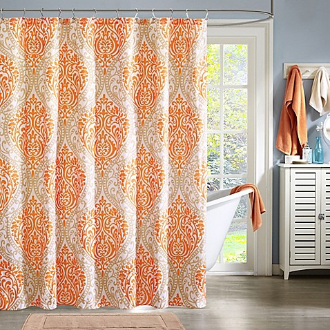 Buy intelligent design senna shower curtain in orange from - Intelligent shower ...