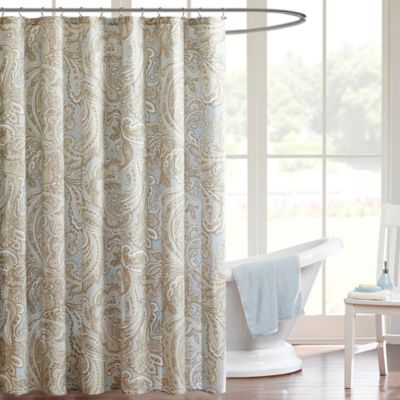 Madison Park Pure Ronan Shower Curtain in Grey