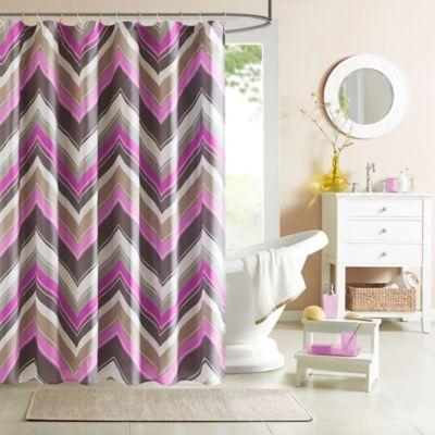 Intelligent Design Elise Shower Curtain in Blue