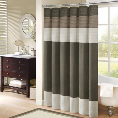 "Madison Park Amherst 72"" x 72"" Shower Curtain in Black"