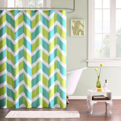 Mi Zone Billie Microfiber Shower Curtain in Green