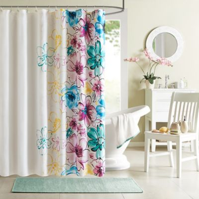 Intelligent Design Olivia Shower Curtain in Pink