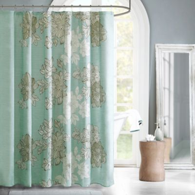 Madison Park Essentials Avalon Shower Curtain in Blue