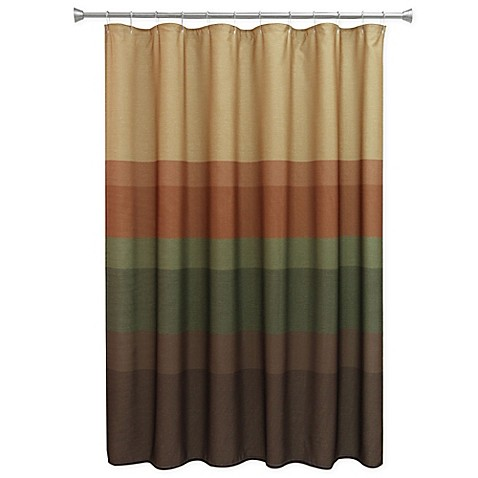 Buy Bacova Textured Layers Spice Shower Curtain In Brown Rust From Bed Bath Beyond