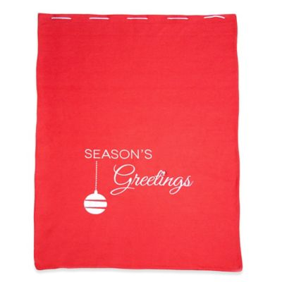 Santa Was Here Red Felt Bag