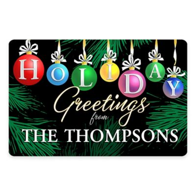 Christmas Personalized Door Mats