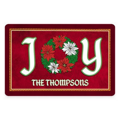 "Weather Guard™ ""Joy"" 1-Foot 5-Inch x 2-Foot 3-Inch Holiday Kitchen Mat"