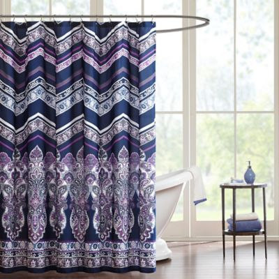 Intelligent Design Adley Shower Curtain in Purple