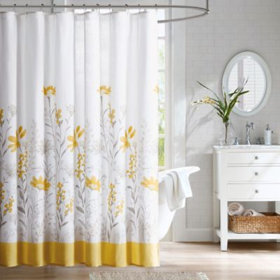 Harbor House Meadow Cotton Shower Curtain in Yellow