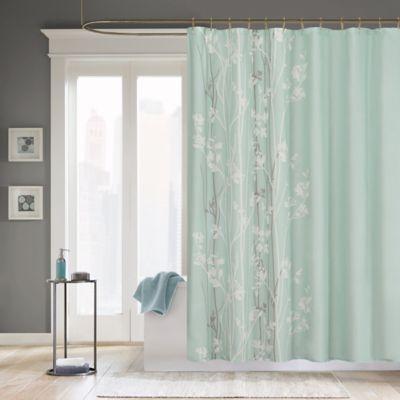 Madison Park Athena Microfiber Shower Curtain