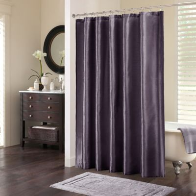 Madison Park Tradewinds Polyester Shower Curtain in Plum