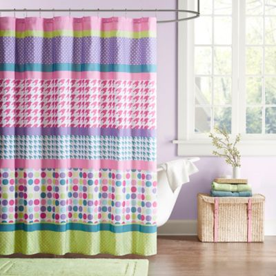 Mi Zone Katie Microfiber Shower Curtain