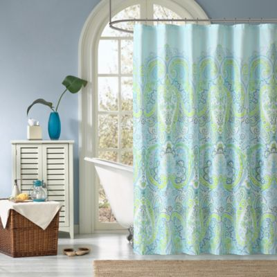 Green and Teal Curtains