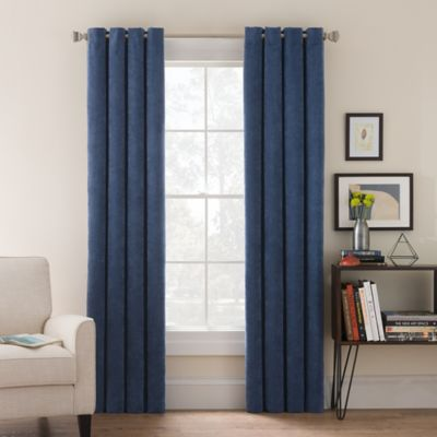 Morgan Corduroy 63-Inch Grommet Top Window Curtain Panel in Teal