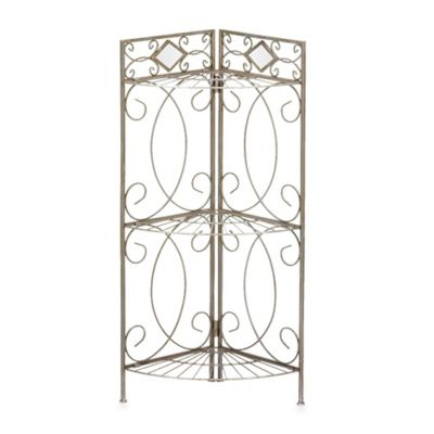 Isabella Corner Bathroom Rack in Pewter