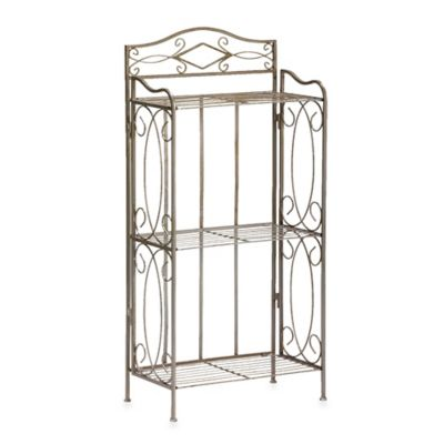 Isabella 3-Tier Bathroom Rack in Pewter