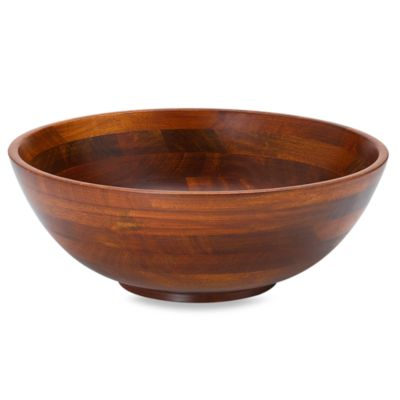 Cherry Finish Footed Salad Bowl