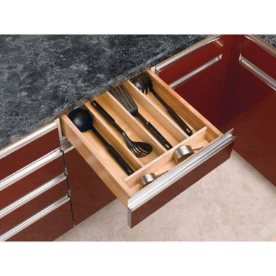 Rev-A-Shelf® Maple Wood Large Shallow Utility Tray Insert