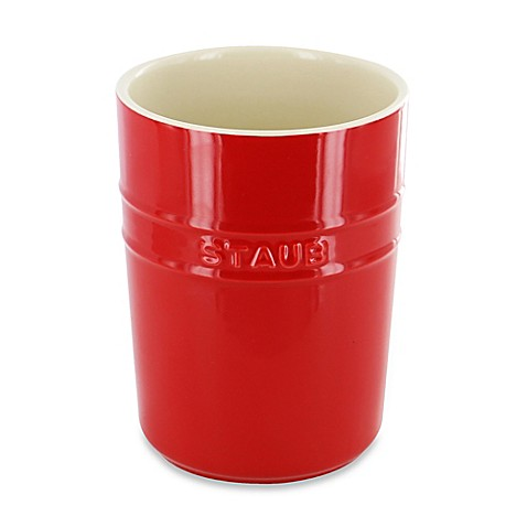Buy Staub 4 1 3 Inch Ceramic Utensil Holder In Cherry From