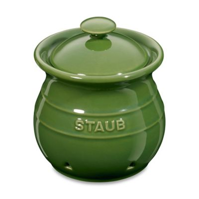 Staub Ceramic Garlic Keeper in White
