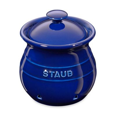 Staub Ceramic Garlic Keeper in Dark Blue