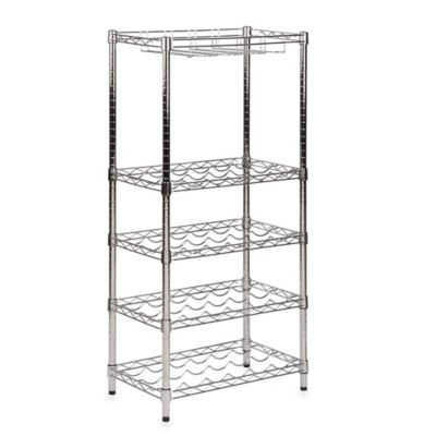 Honey-Can-Do® Steel 5-Tier Wine and Stemware Rack in Chrome