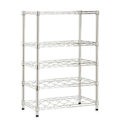 Honey-Can-Do® Steel 4-Tier Wine Rack in Chrome