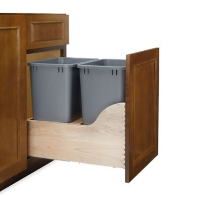 Rev-A-Shelf® 4WCSC Series 27-Quart Double Waste Container Wood Pull-Out Kit