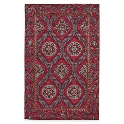 Wool Tufted Medallion 4-Foot 9-Inch x 7-Foot 6-Inch Area Rug in Brown/Red