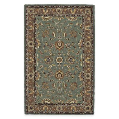 Wool Tufted Tradition 4-Foot 6-Inch x 7-Foot 6-Inch Area Rug in Blue/Brown