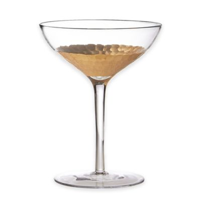 Fitz and Floyd® Daphne Champagne Coupes in Gold (Set of 4)