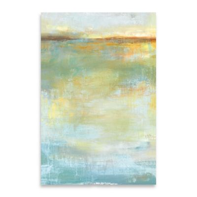 Abstract Wash Center 24-Inch x 36-Inch Embellished Canvas Wall Art