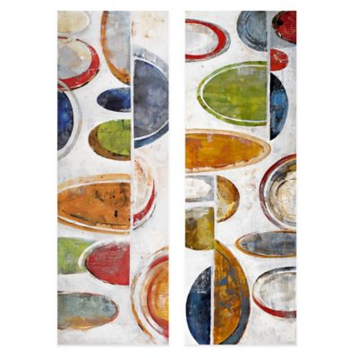 Orbital Sequence Embellished Canvas Wall Art (Set of 2)