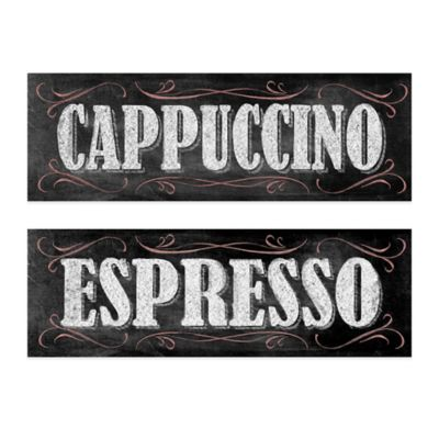 Chalkboard Cappuccino/Espresso Canvas Wall Art (Set of 2)