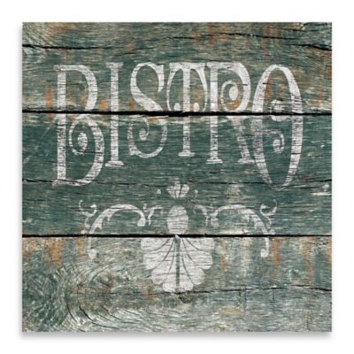 "Vintage ""Bistro"" Canvas Wall Art"