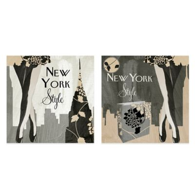 New York Style Canvas Art (Set of 2)