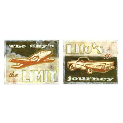 """Life's a Journey""/""The Sky's the Limit"" Canvas Art (Set of 2)"