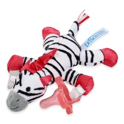 Dr. Brown's® Zoey the Zebra Lovey Pacifier and Teether Holder