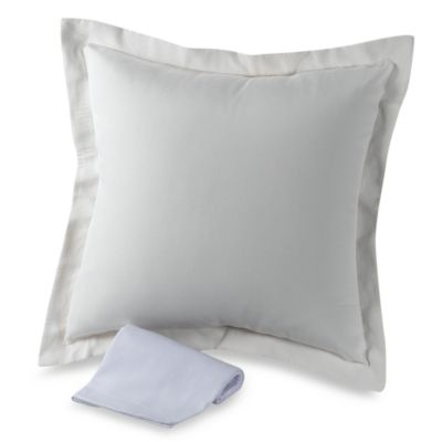Diamond Matelasse European Sham in White