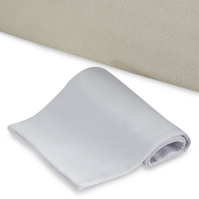Diamond Matelasse Twin Box Spring Cover in White