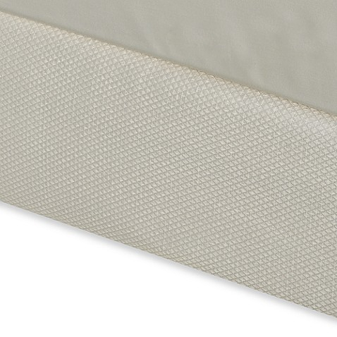 Diamond Matelasse Full Box Spring Cover in Ivory