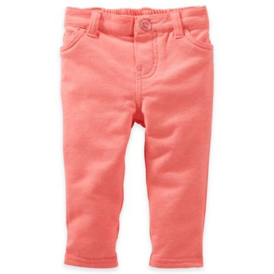 OshKosh B'Gosh® Size 3M French Terry Jegging in Neon Orange