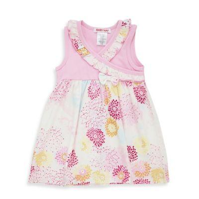 Baby Nay® Size 3M Geisha Daisy Sleeveless Kimono Dress in Pink/Orange