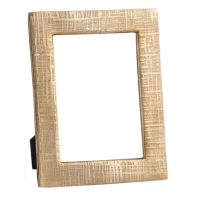 Simplydesignz Kanji 5-Inch x 7-Inch Picture Frame in Gold