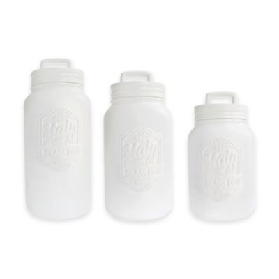 American Atelier 3-Piece Main Street Canister Set in White