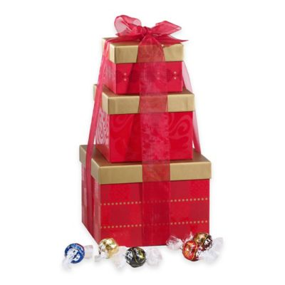 Lindt Lindor 130-Count Assorted Truffles Holiday Gift Tower