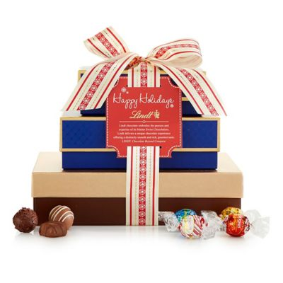 Lindt Holiday Classics 3-Tier Gift Tower